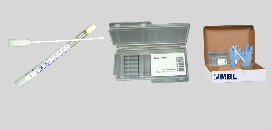 Black mold testing kit for visible mold growth